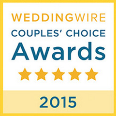 Wedding Wire Couples Choice Award. 5 Star in 2015