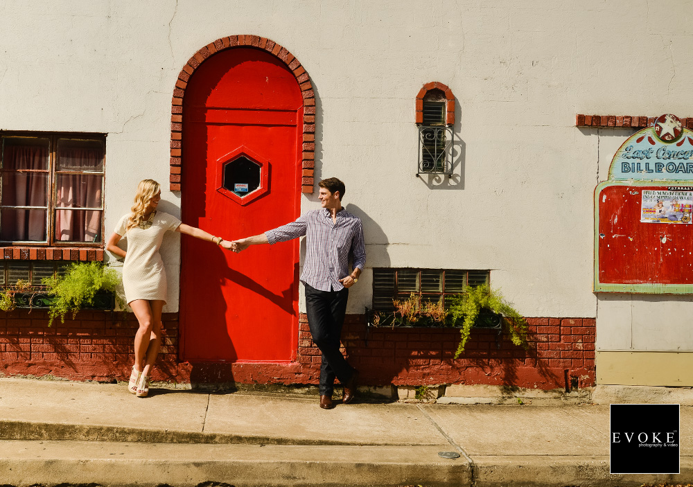 The Red Door and Billboard at Dakota Lofts.