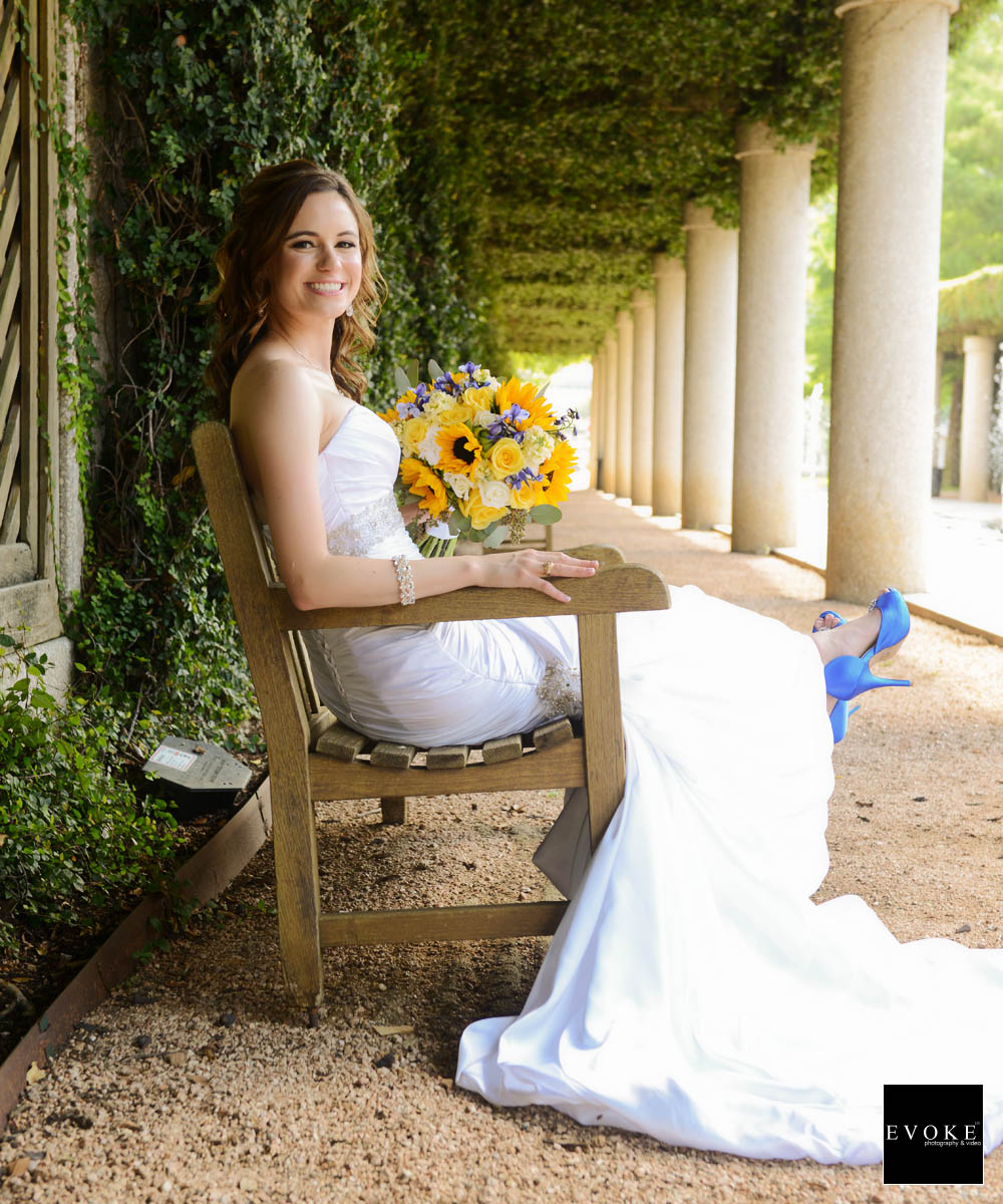 Bridal session at Texas A&M park photography by EVOKE Wedding Photography and Video.
