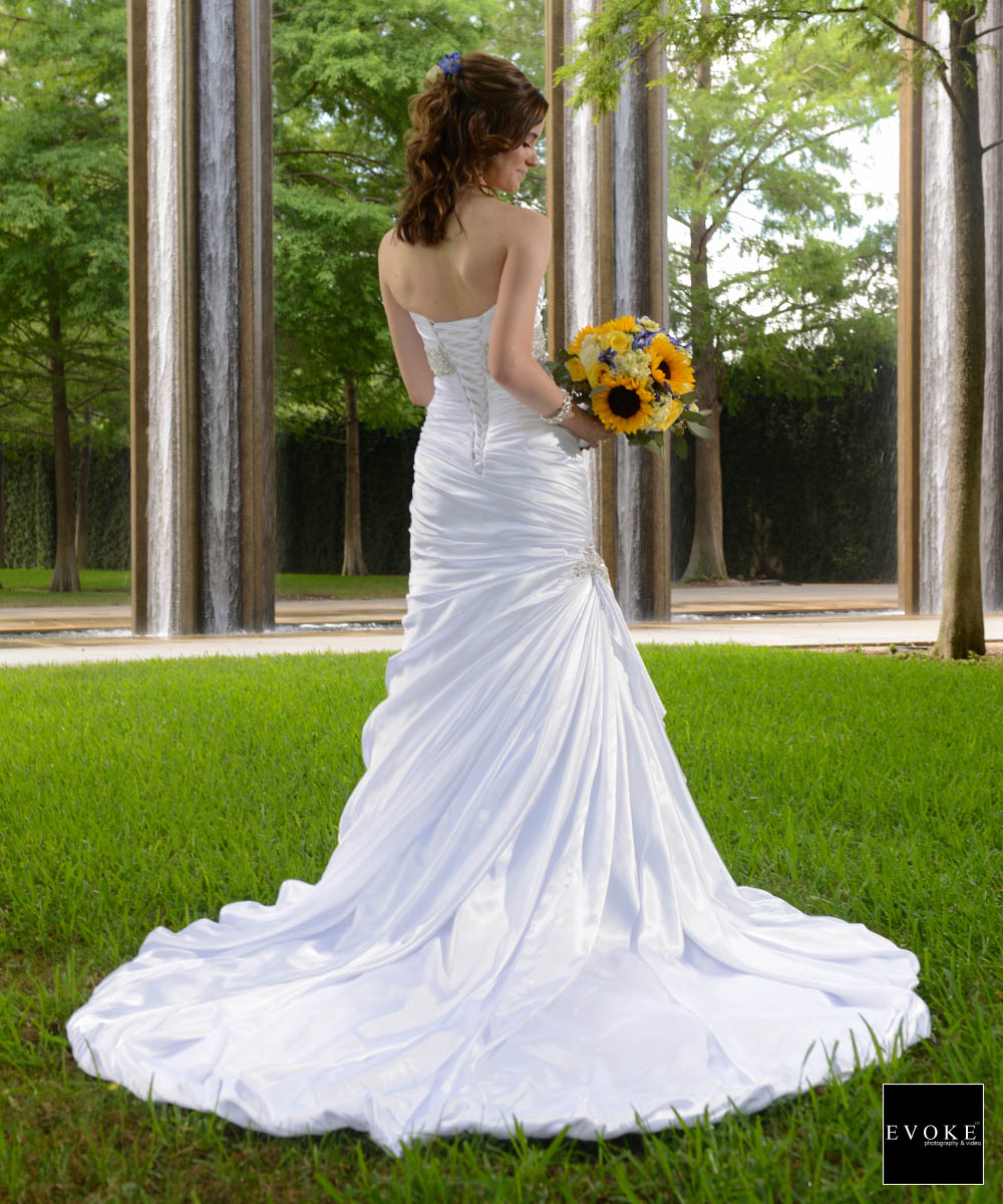Bridal session at Texas A&M park by EVOKE Wedding Photography.