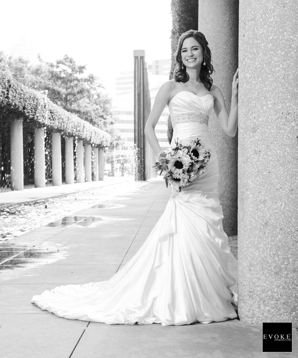 Bridal session at Texas A&M park by EVOKE.