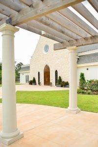 A peek at the wedding chapel