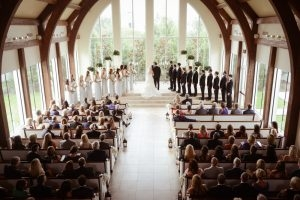 A beautiful wedding ceremony in a beautiful chapel
