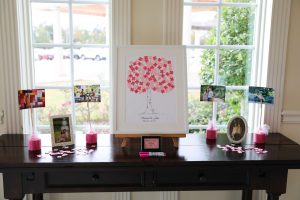 A sweet guest book tree for the wedding reception