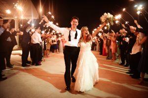 A sparkler wedding exit