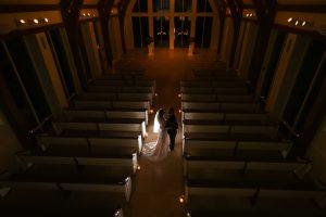 An artistic take on a formal wedding portrait