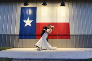 A Texas flag is a great addition to wedding pictures