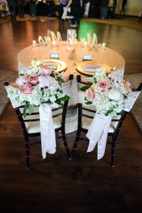 A touch of spring at the head table