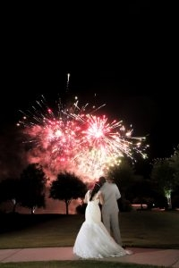 Fireworks set off just for the new Mr. & Mrs.