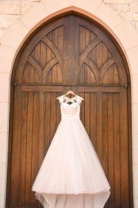 A beautiful dress and a beautiful chapel
