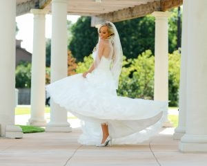 Bridal attire details are important, especially the shoes