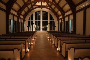 A romantic feeling set by an evening wedding