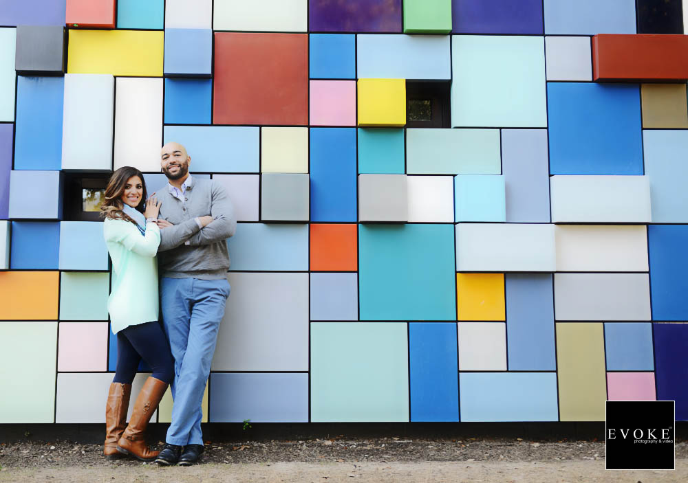 Engagement Session by EVOKE Photography and Video at Discovery Green.
