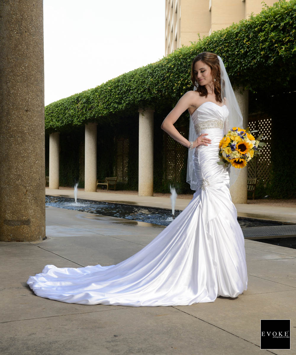 Bridal session at Texas A&M park by EVOKE Photography and Video.