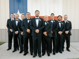 The groomsmen show their Texas pride