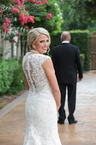 A First Look with the bride and her father