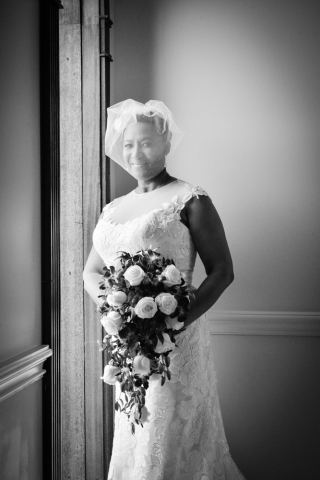 A stunning bride poses before the ceremony
