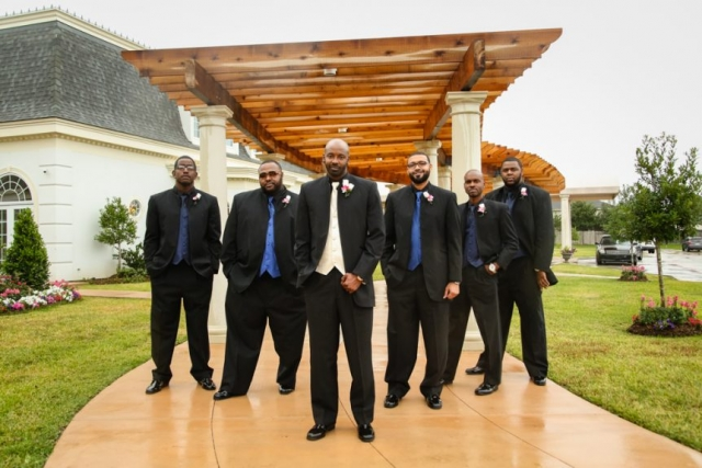 The groom and his wolfpack