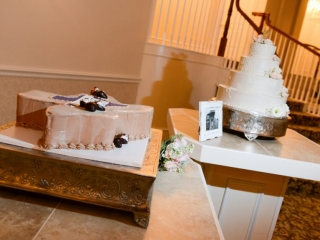 An ice cream cake for the groom