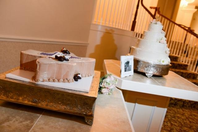 An ice cream cake for the groom