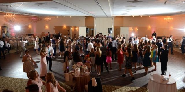 A lively wedding reception