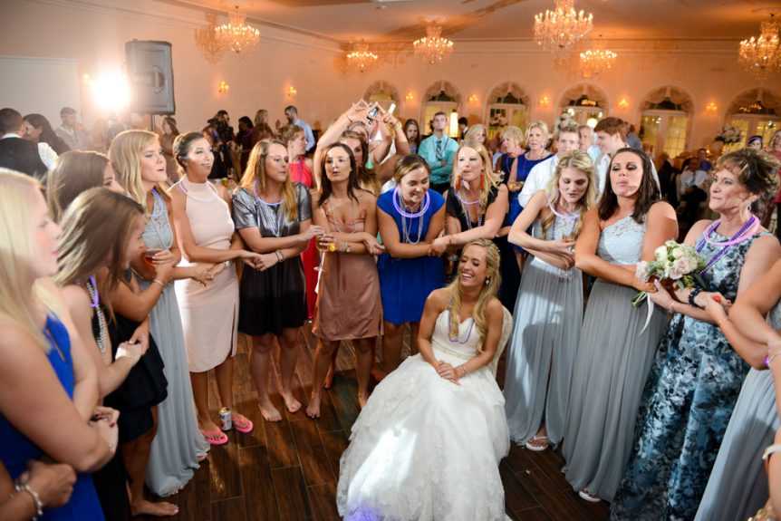 Sisterhood runs strong at this wedding reception
