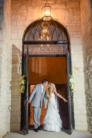 The doors are open to the couple's new life together