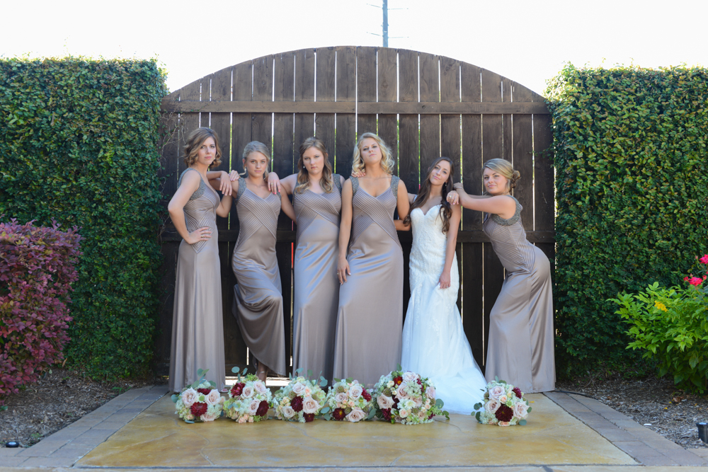 A sassy and sweet bridal party