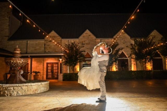 A pick-up game for this bride and groom