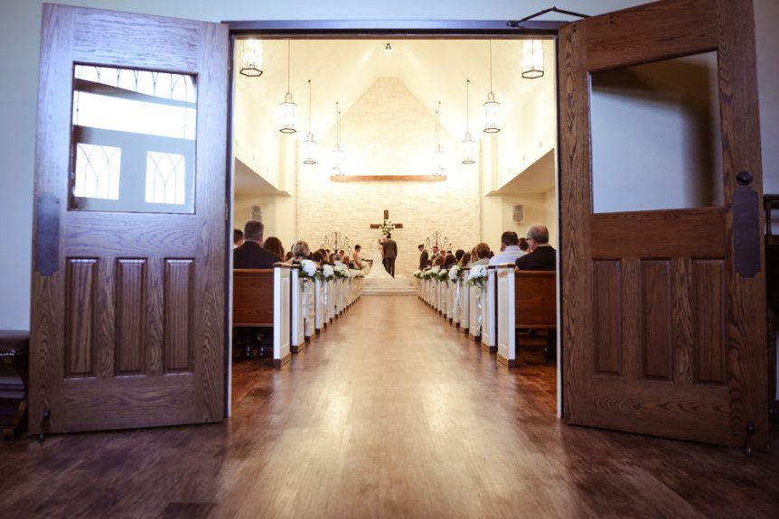 The wedding ceremony artistically captured