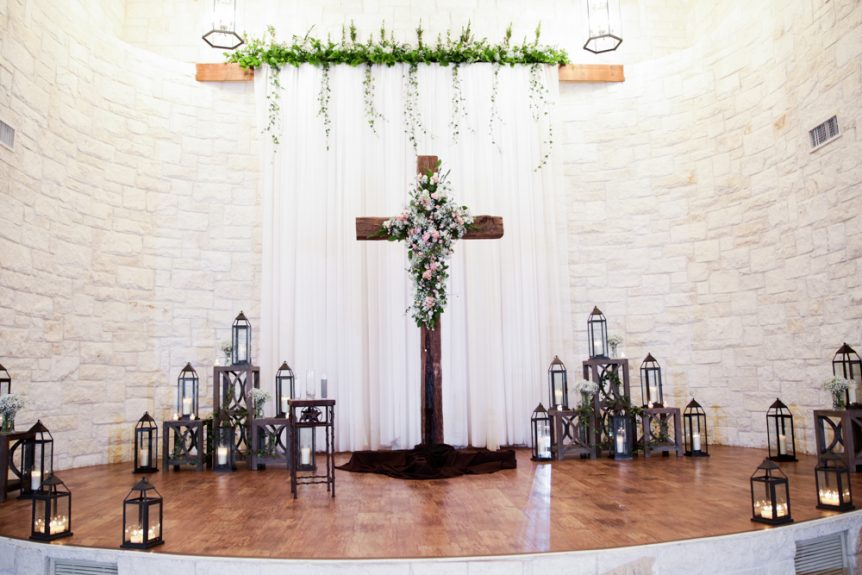 The ceremony venue setting should reflect the couple