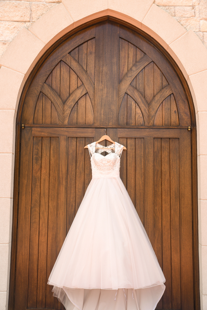 A beautiful dress and a beautiful chapel