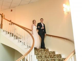 A grand entrance into the wedding reception