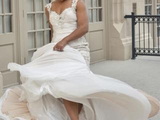 Dancing Bride on Patio at Crystal Ballroom