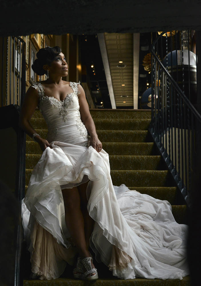Bridal Session at Lawless Spirits and Kitchen - Rice Lofts - Crystal Ballroom