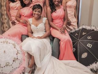 Bride and Bridesmaids at Crystal Ballroom