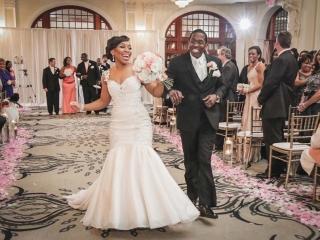 Just Married at Crystal Ballroom Houston