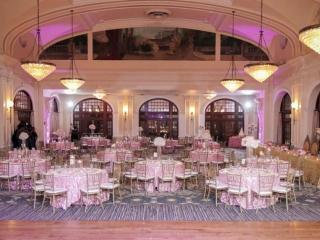 Crystal Ballroom decorated for a Wedding