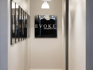 EVOKE Hallway to the Sales Rooms.